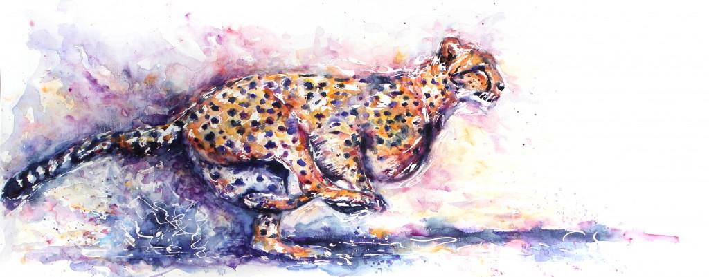 cheetah, cheetah watercolour, cheetah painting, movement, running cheetah, cheetahs, cheetah art