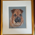 pet portraits, pet portrait, pet painting, pet artist, pet art, dog painting, dog portrait, dog portraits, shar pei portrait, shar pei painting, shar pei
