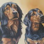 dog portrait, double dog portrait, dog portraits, pet portraits, pet portrait, pet paintings, pet painting, pet painting uk, pet artist