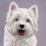 Dog portrait, dog portraits, dog art, pet portraits, pet portrait, pet painting, pet paintings, animal artist, pet artist, westie painting, westie portrait