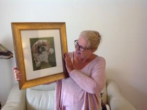 pet portrait, dog portrait, pet portraits, dog portraits, happy clients, framed pet portrait