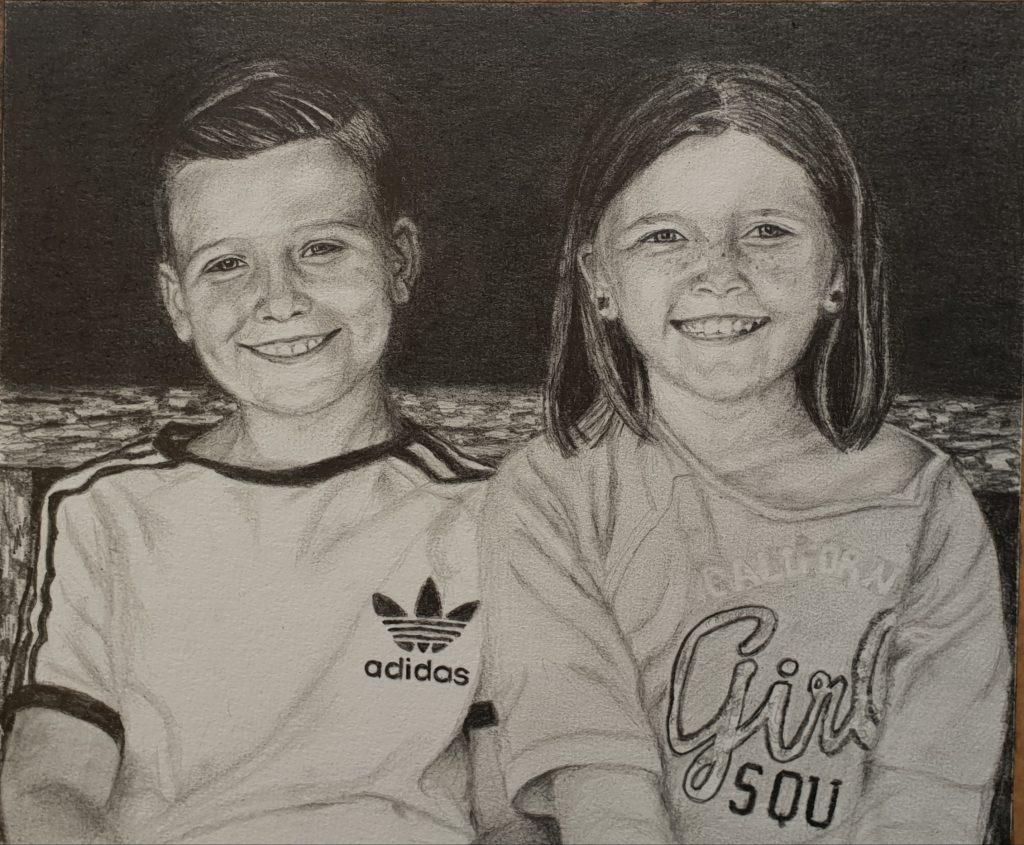 People portrait, graphite portrait, child portrait, family portrait, commission a portrait, portrait, portrait artist