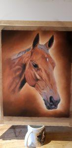 Horse portrait, horse painting, pet painting, equine portrait, equine artist, equne portraiture