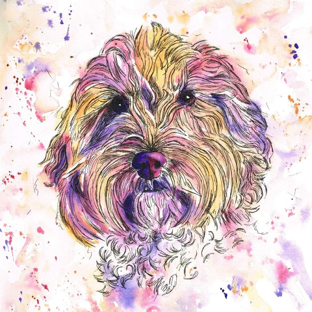 pet portrait, pet portraits in watercolour, watercolour pet portraits, dog portrait, dog portraits in watercolour, dog painting, dog pet portrait, dog pet portraits